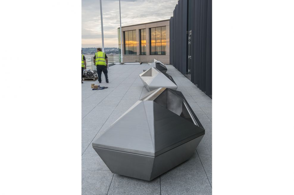 Stainless Steel Seating to the Royal Bank