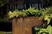 Corten Steel Planters Bright Orange