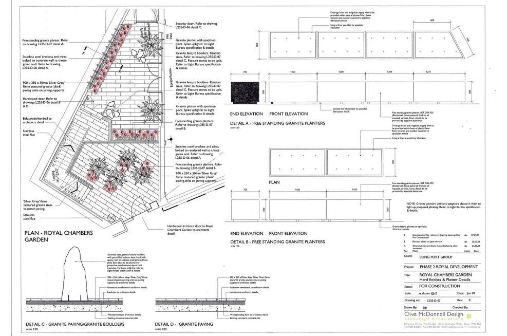 Design Plans For Bespoke Granite Planters