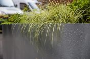 Close Up Of Waterproof Steel Trough Planters