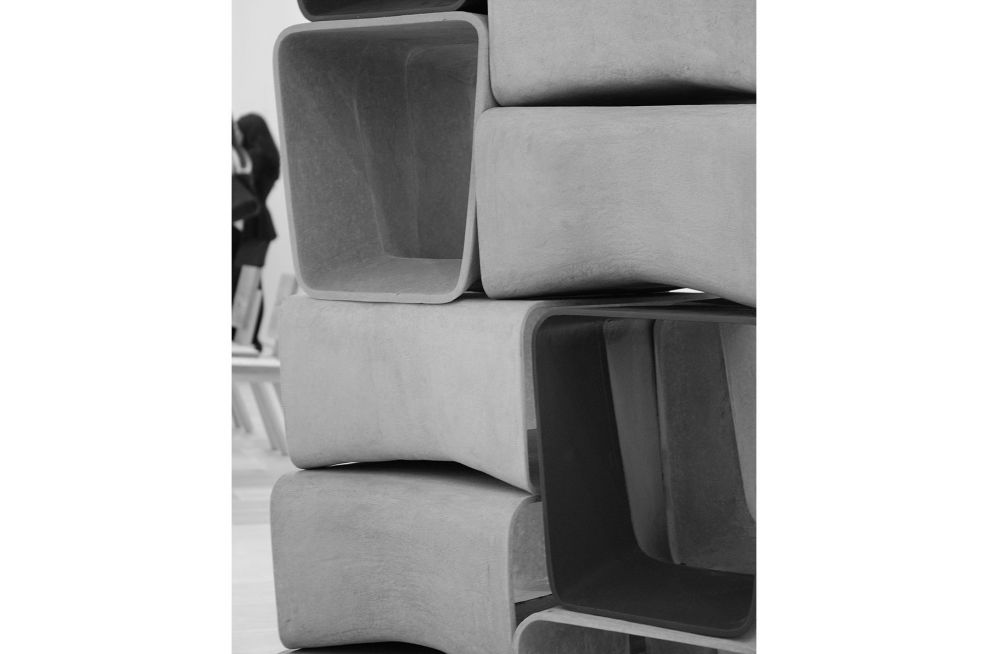 Close-Up Of the ECAL Fibre Reinforced Cement Stools and Tables