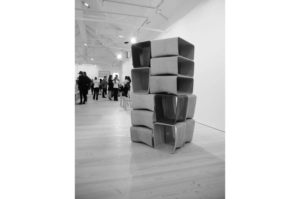 ECAL Stools and Tables Stacked At The Saatchi Gallery, June 2010