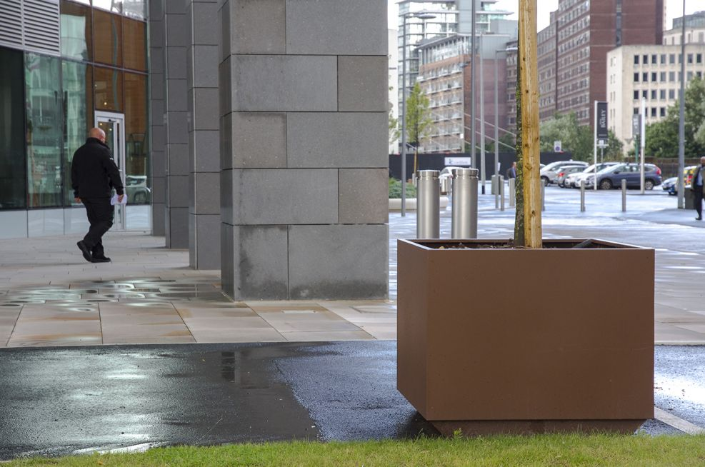 Powdercoated Steel Planters For External Use