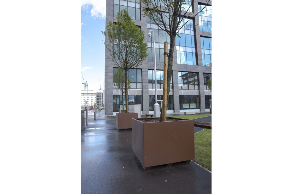 Tree planters for streets and parks