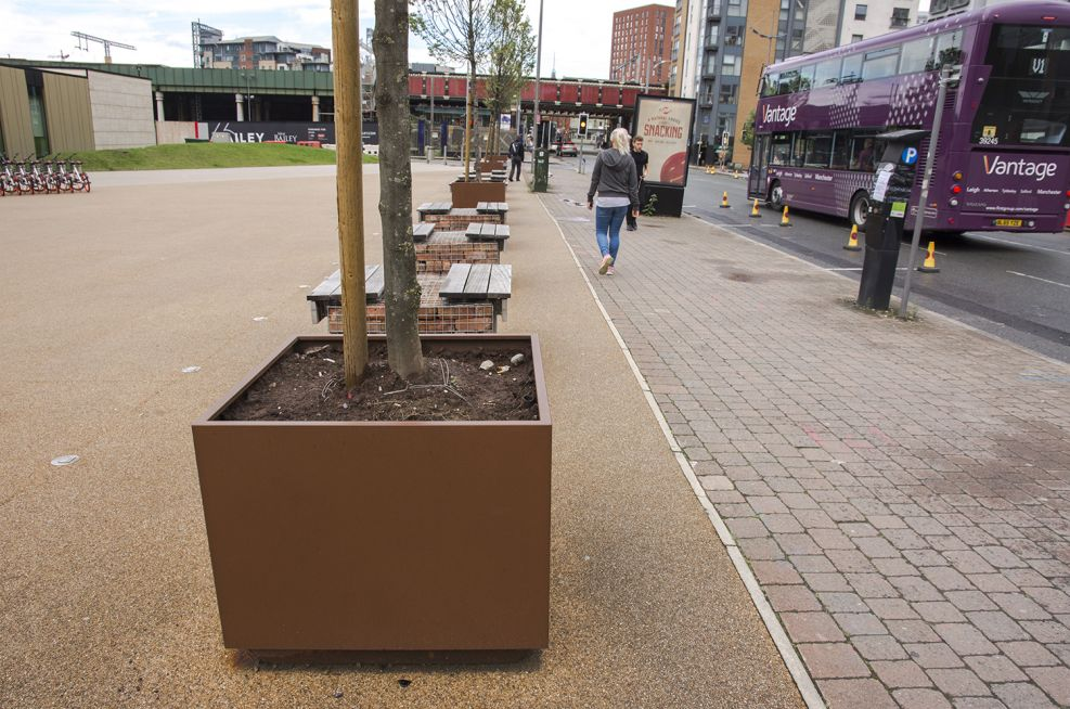 Zintec Steel Powder Coated Planters