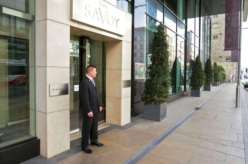 Planters At The Entrance Of The Savoy Hotel
