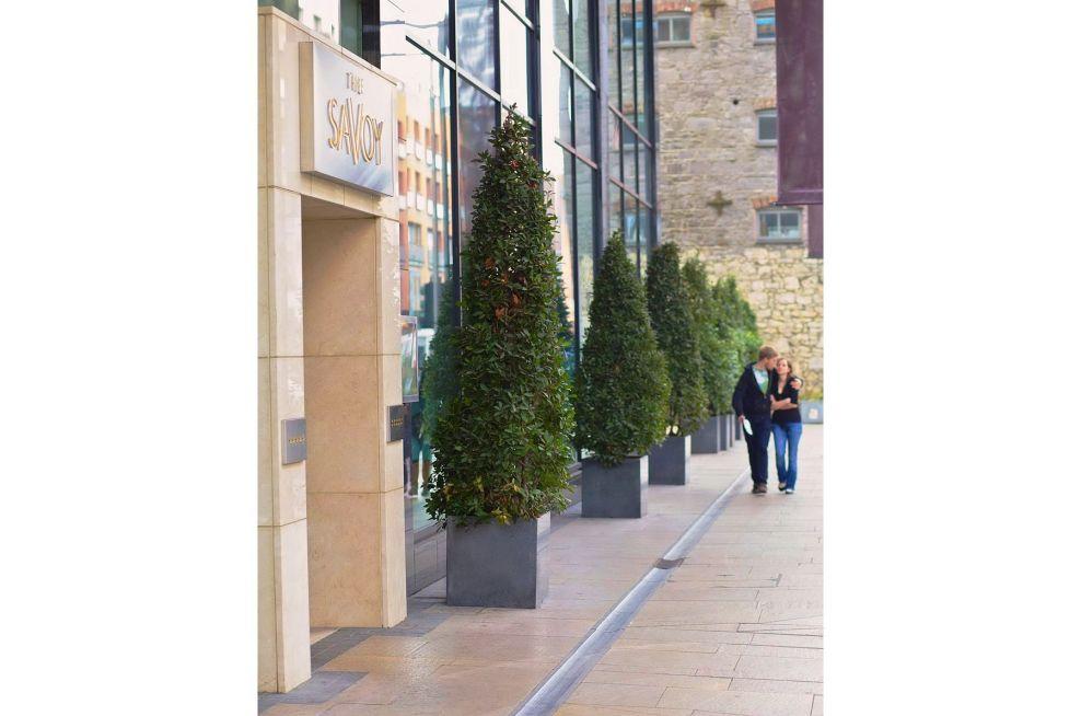 Weatherproof Granite Planters For Hotel Frontage