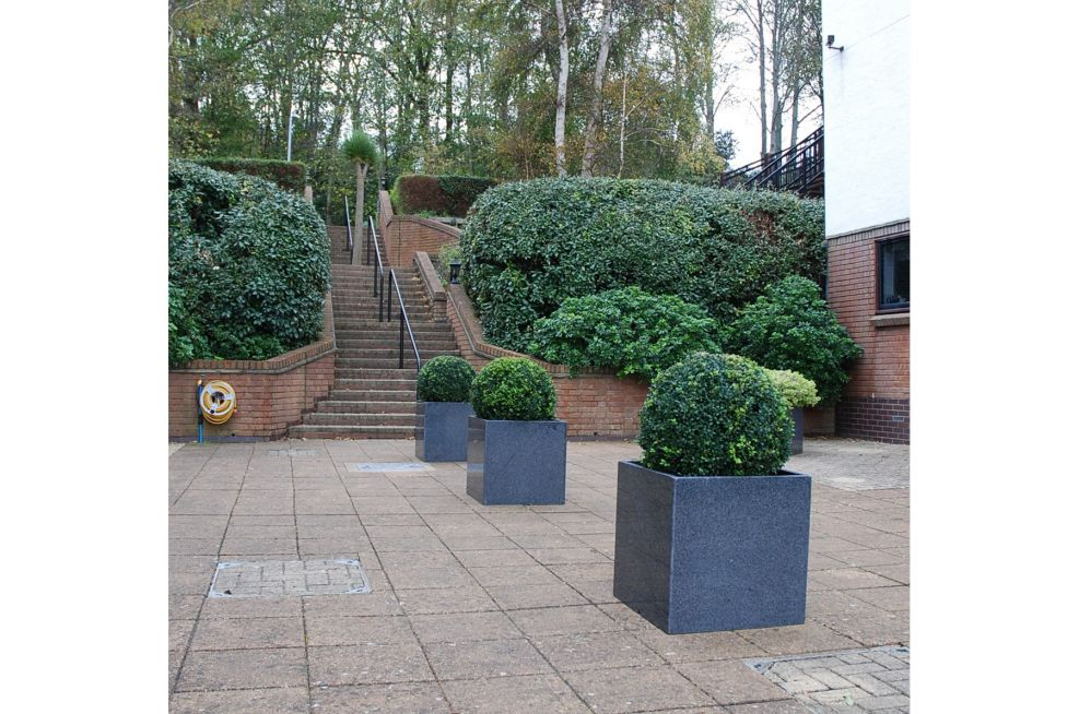 Cube 600 Planters From IOTA and Made From Granite