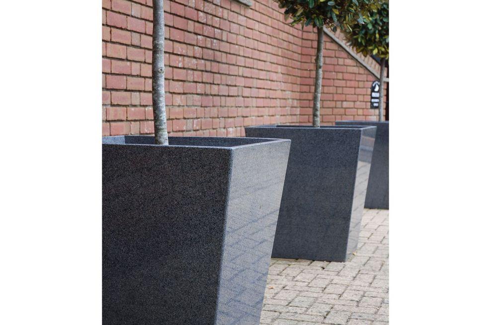 Tall Natural Stone Granite Planters