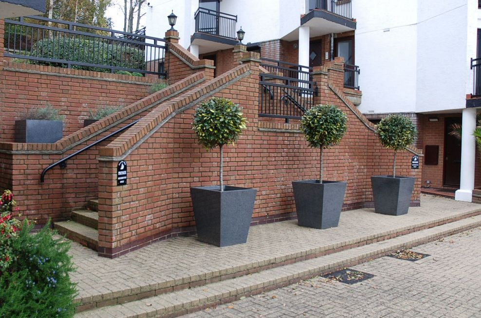 Taper 800 Planters At Site Entrance
