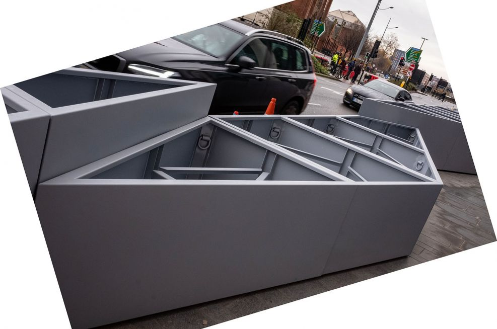 Custom sized modular planters