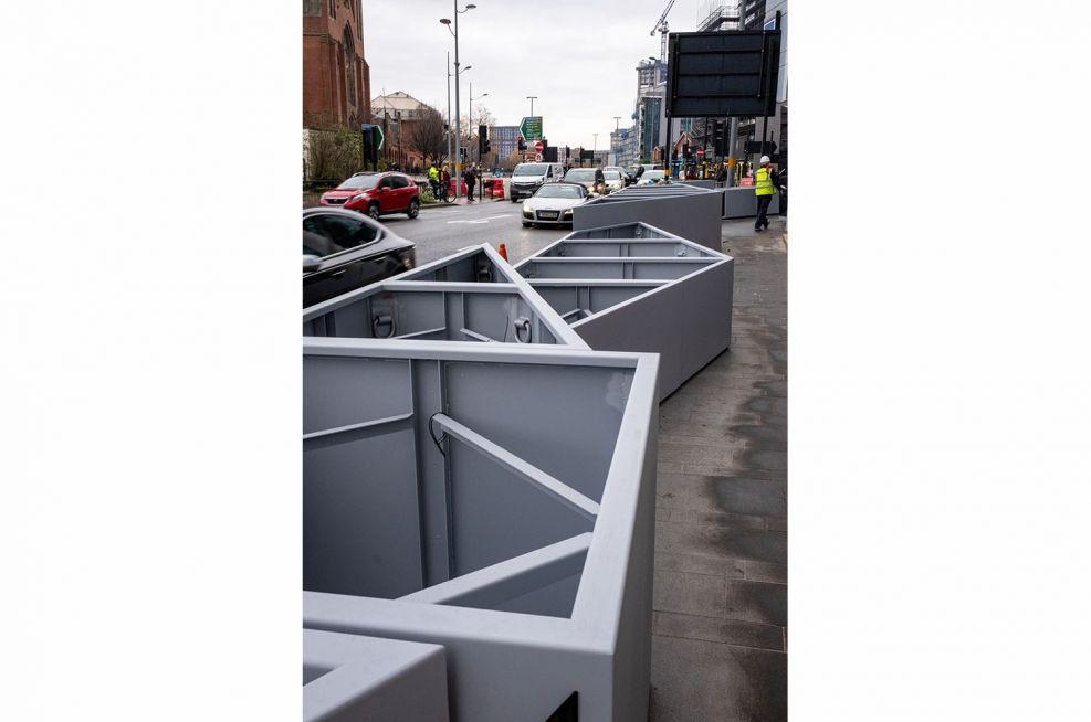 Complex modular street planters
