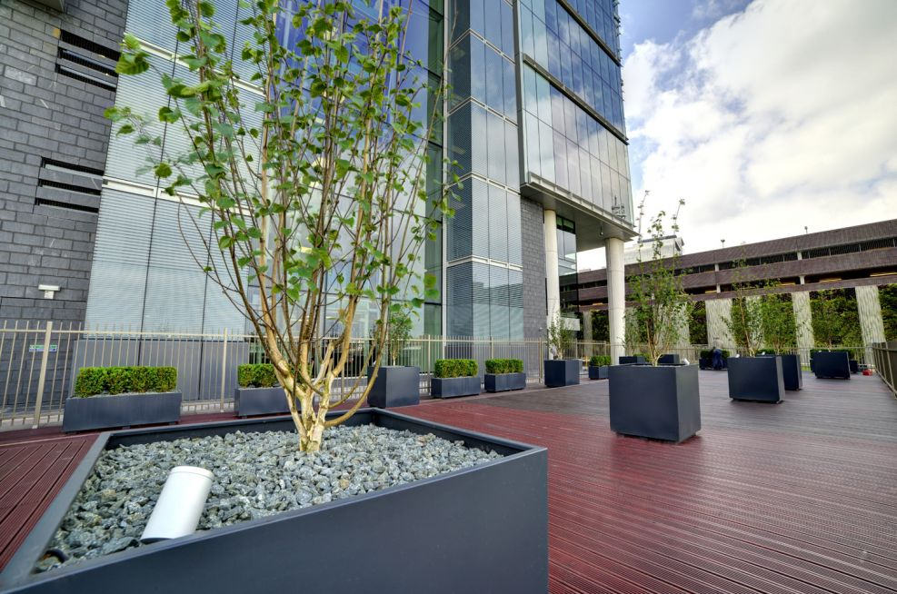 Bespoke Powder Coated Steel Planters Birmingham