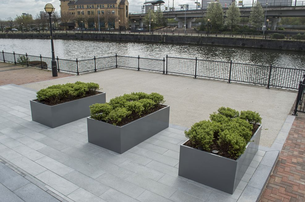 Bespoke Powder Coated Trough Planters