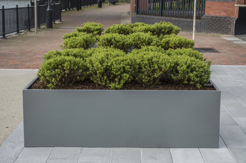 Close Up Of A Coated Bespoke Steel Planter