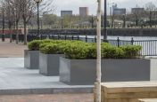 Large Bespoke Powder Coated Trough Planters