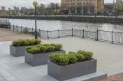 Public Powder Coated Promenade Planters