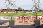 IOTA Granite Cube Planter At Somerset County Cricket Club