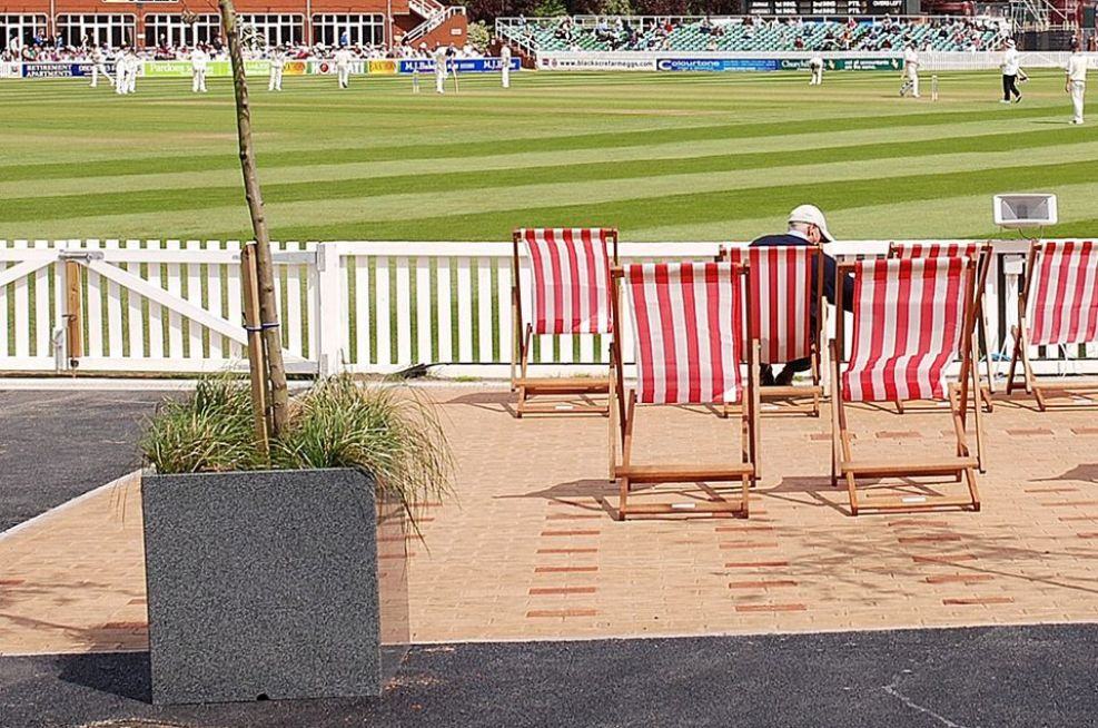 Granite Cube Planters On The County Ground