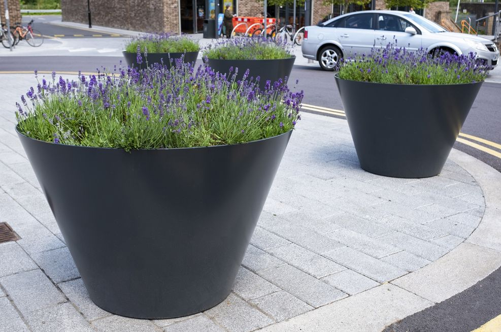 Flared planters for the public realm