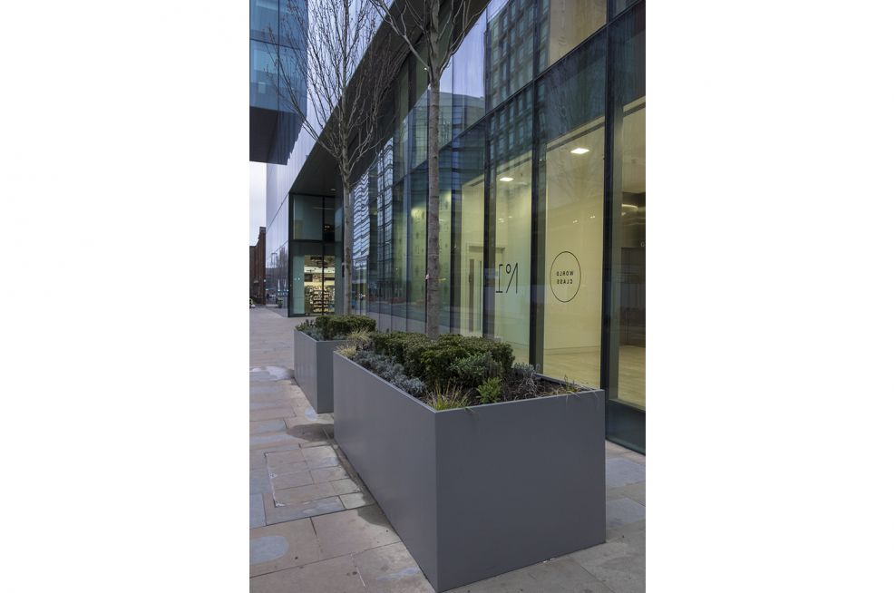 Bespoke Steel Planters for Public Spaces