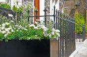 Bespoke Powder Coated Steel Planters in St. Katharine