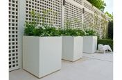 White Zintec Steel Powder Coated Planters