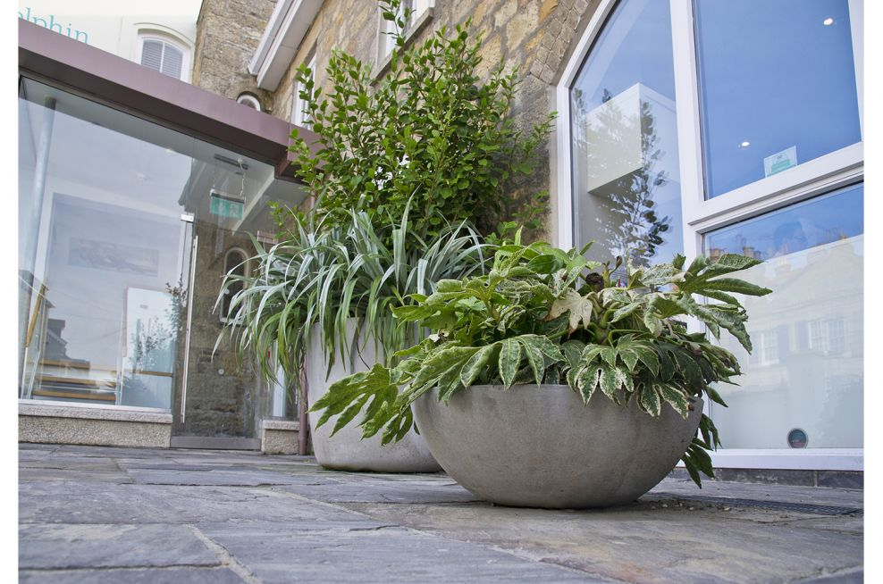 Lausanne and Kyoto Fibre Reinforced Cement Planters
