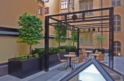 Bespoke Powder Coated Steel Planters Stockholm, Sweden