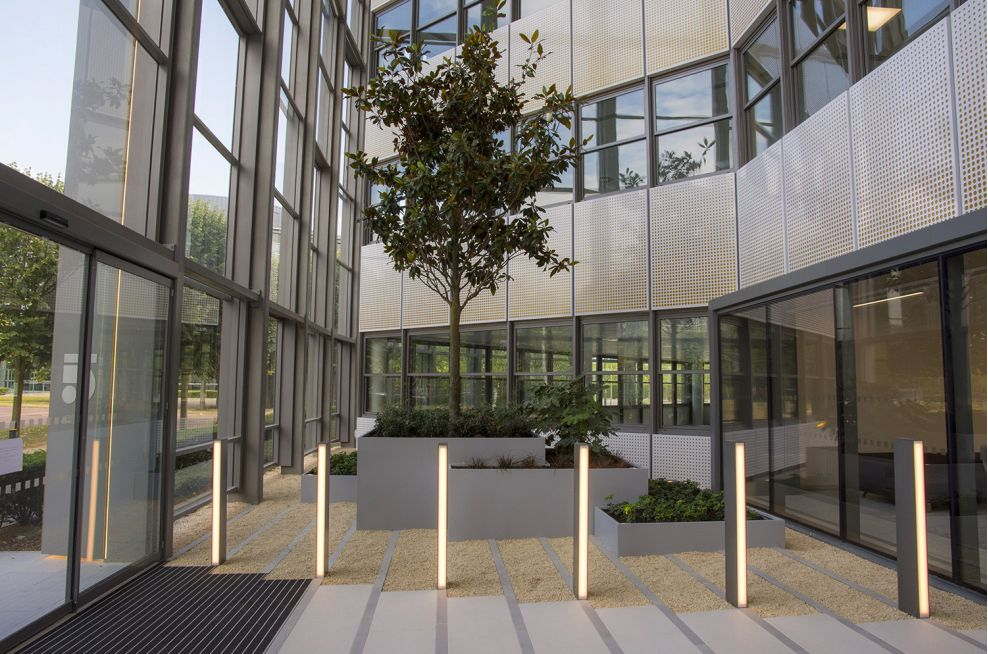 Bespoke Steel Planters For 5 The Square Stockley Park