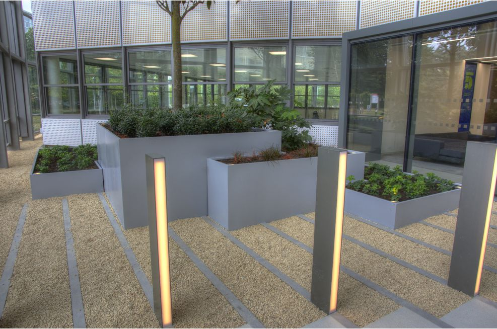 Bespoke Steel Planters For Stockley Park