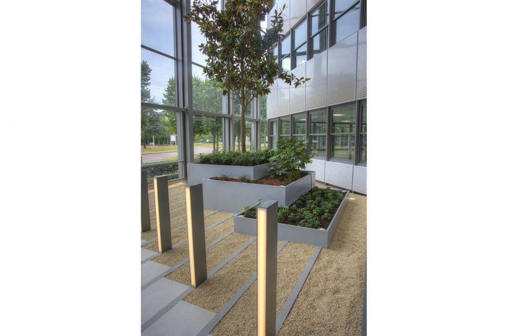 Bespoke Zintec Steel Powder Coated Planters