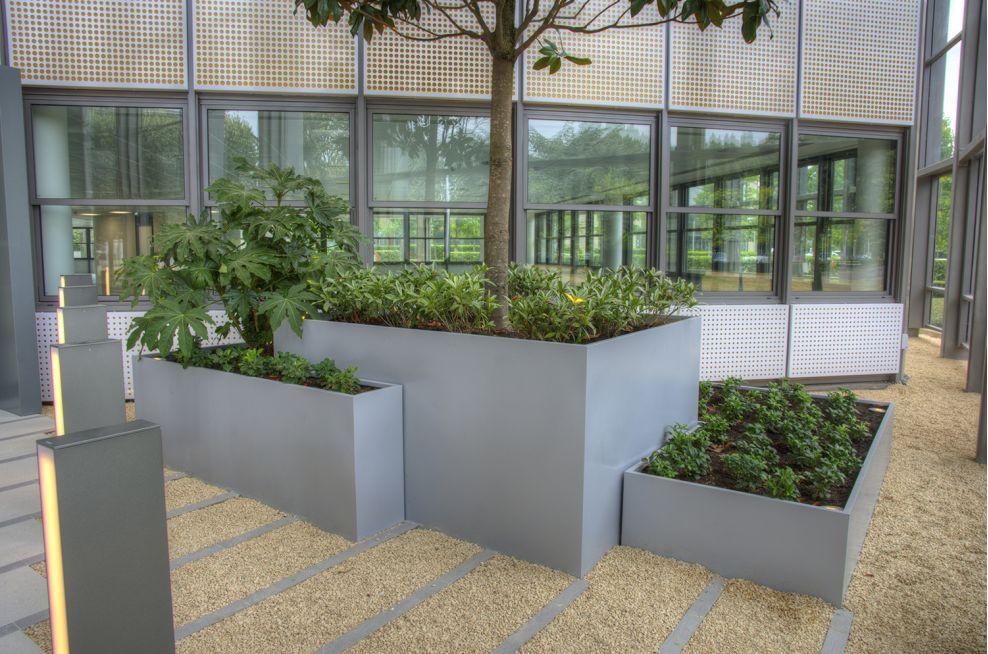 Fabricated From 1.5nn Zintex Steel, Polyester Powder Coated Planters