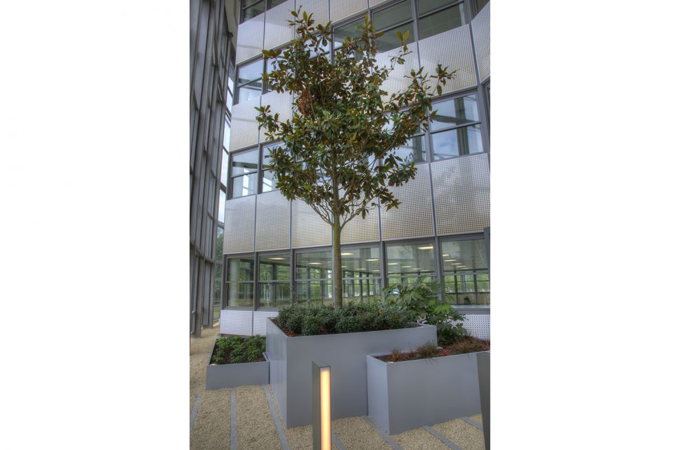 Steel Planters For Stockley Park