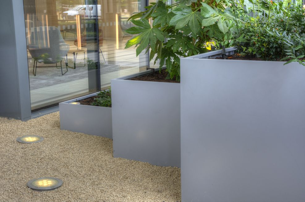 Varying Heights Steel Planters
