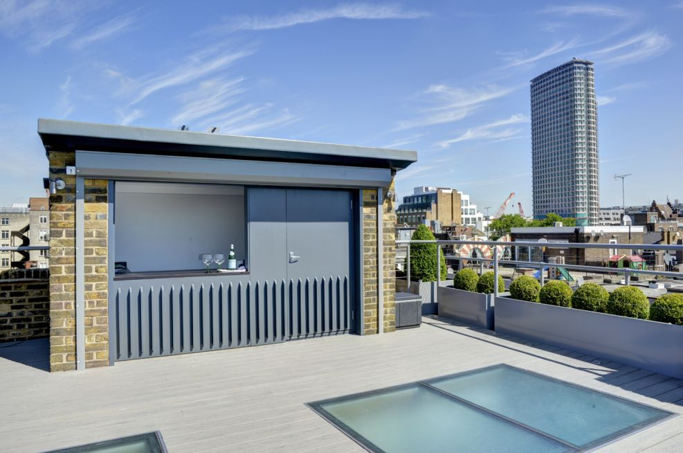Roof Terrace Bar For Client And Staff Events