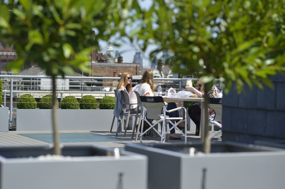 Roof Terrace Square Planters