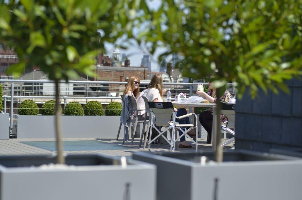 Roof Terrace Square Planters