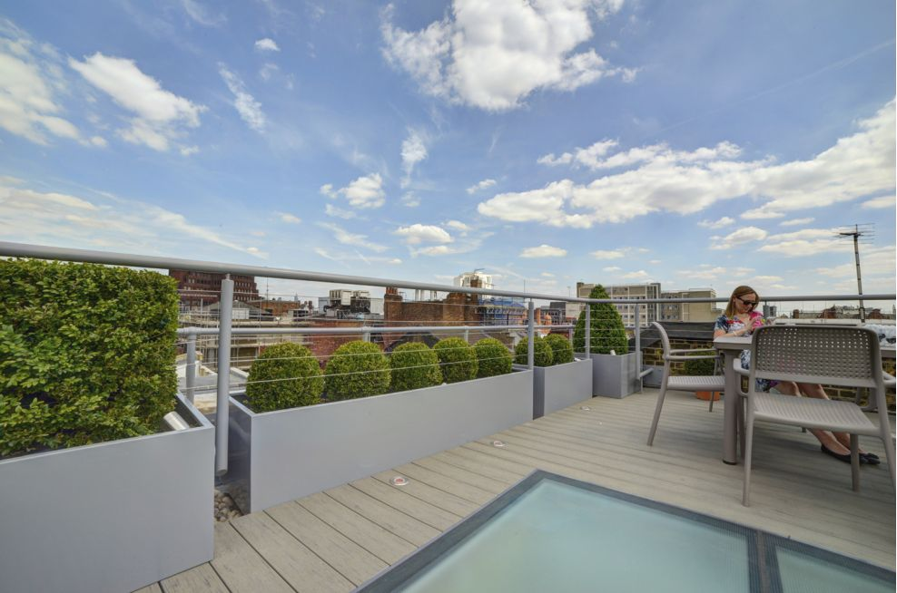 Roof Terrace Steel Planters at Tapestry Bristol