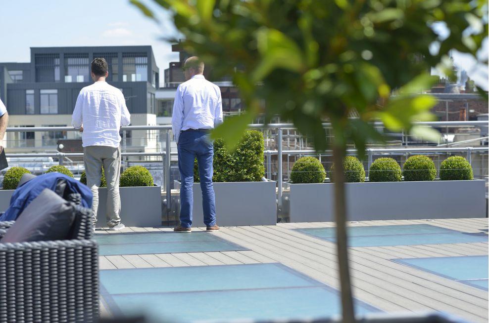 The Roof Terrace Varied Steel Planters