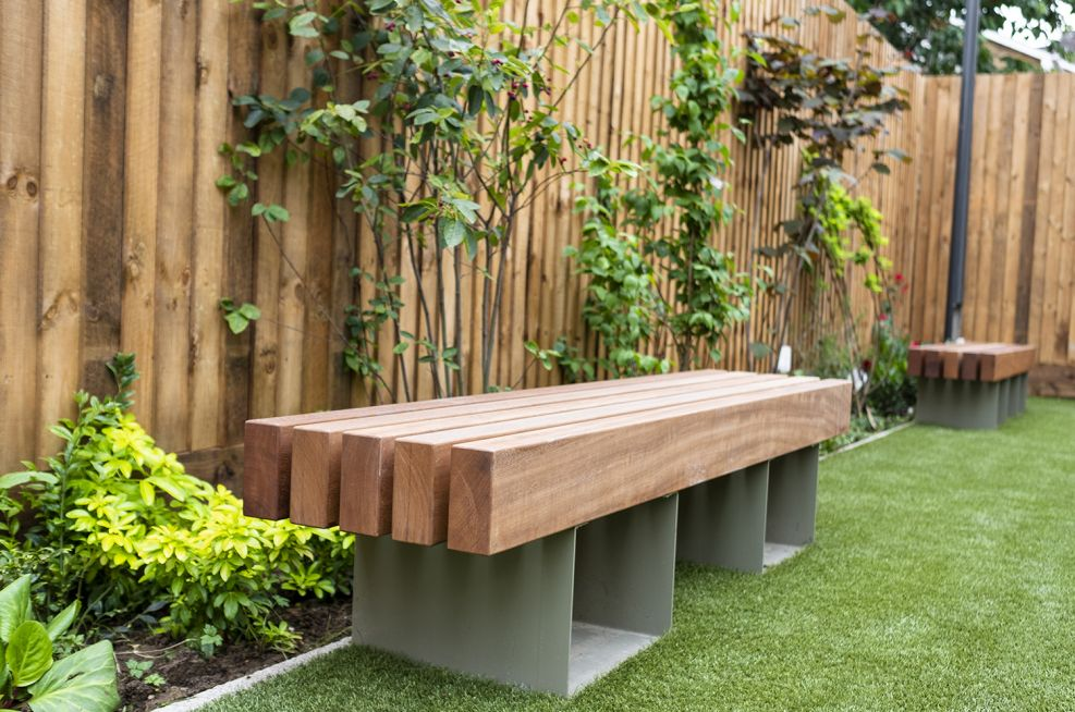 Hardwood Iroko bench seating