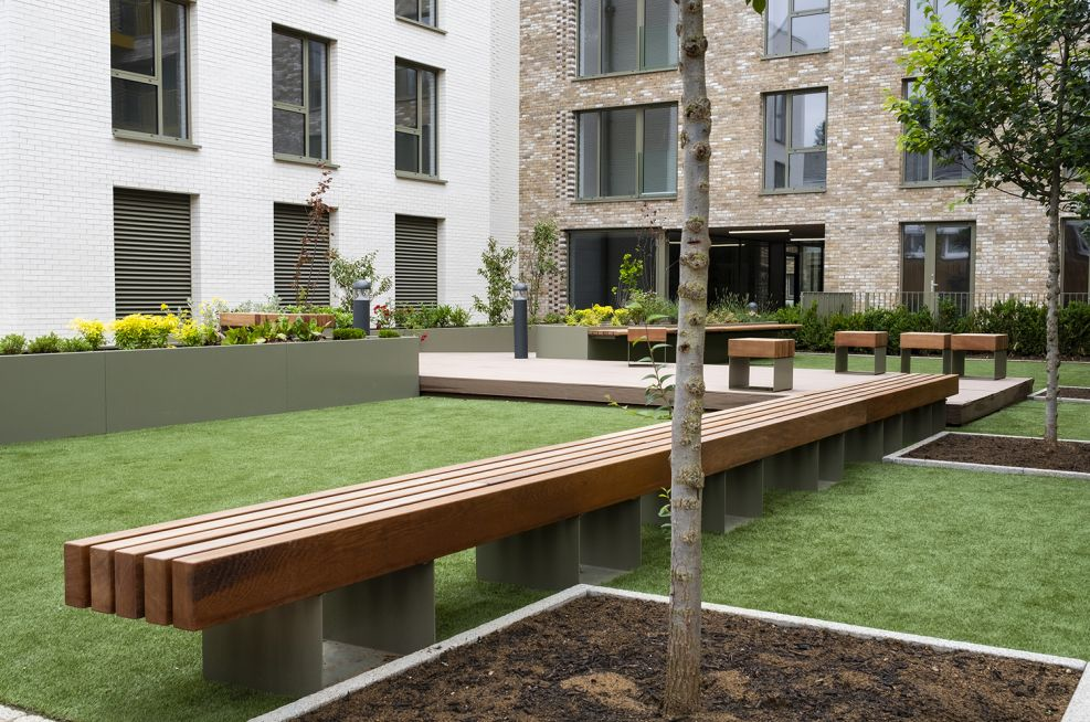 Extra long wooden benches