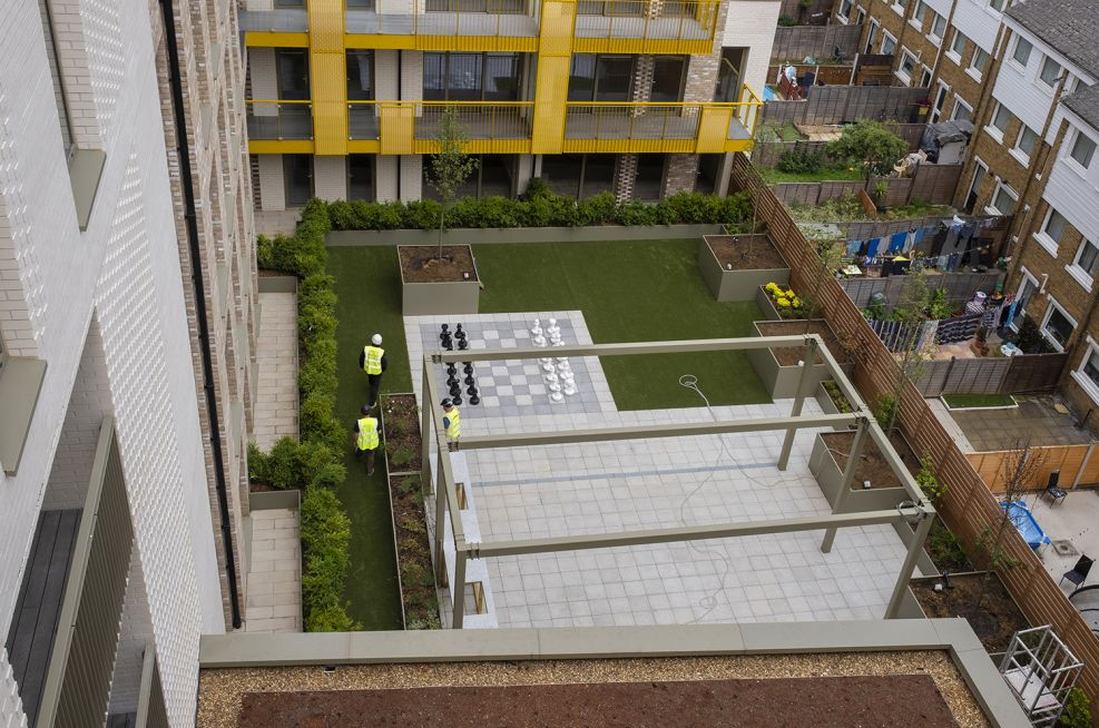 Landscape products for residential community garden