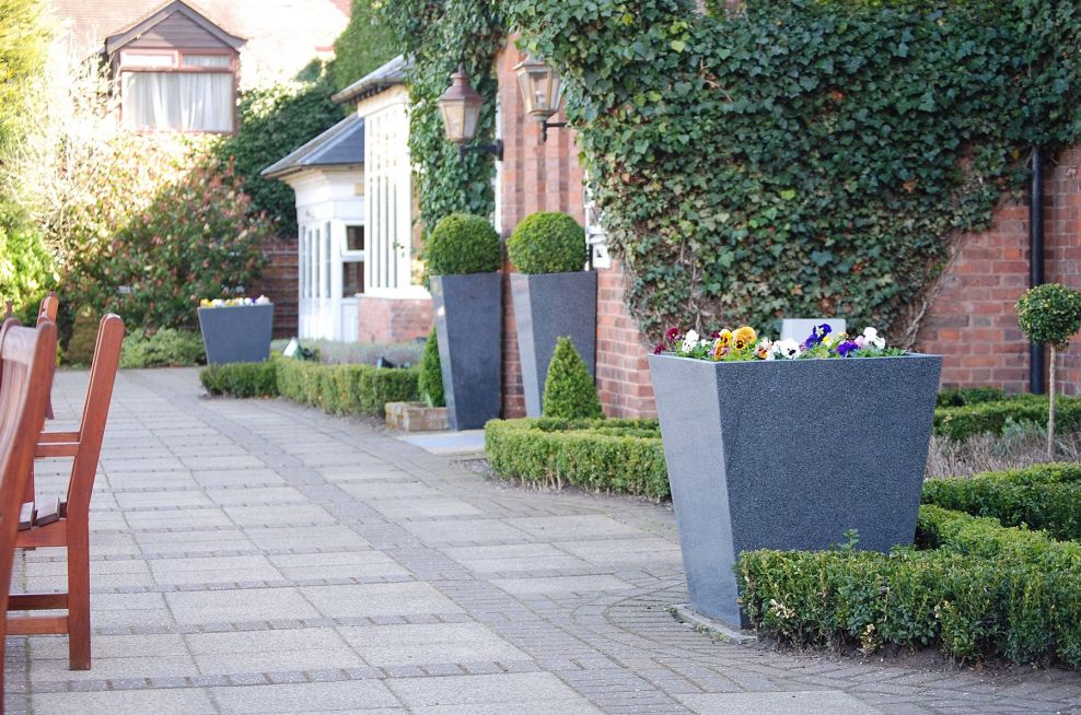 Granite Stone Planters On The Bar Terrace