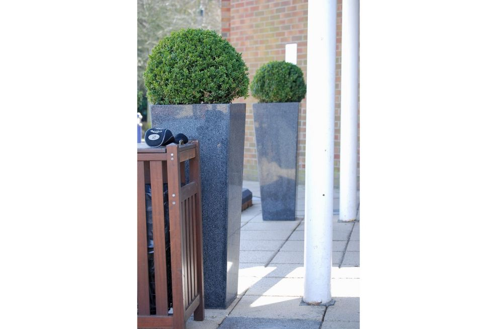 Taper Planters Made From Natural Stone