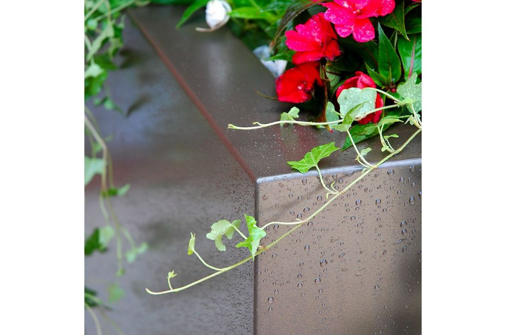 Close-Up Of Bespoke Steel Tree Planters