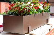 Steel Powder Coated Trough Planters