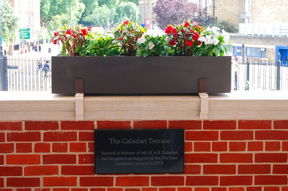 Trough Planters Made From Steel On Pavillion Terrace