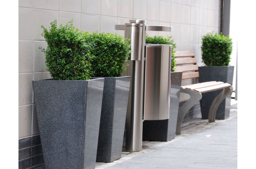 Granite Tall Taper Large Planters