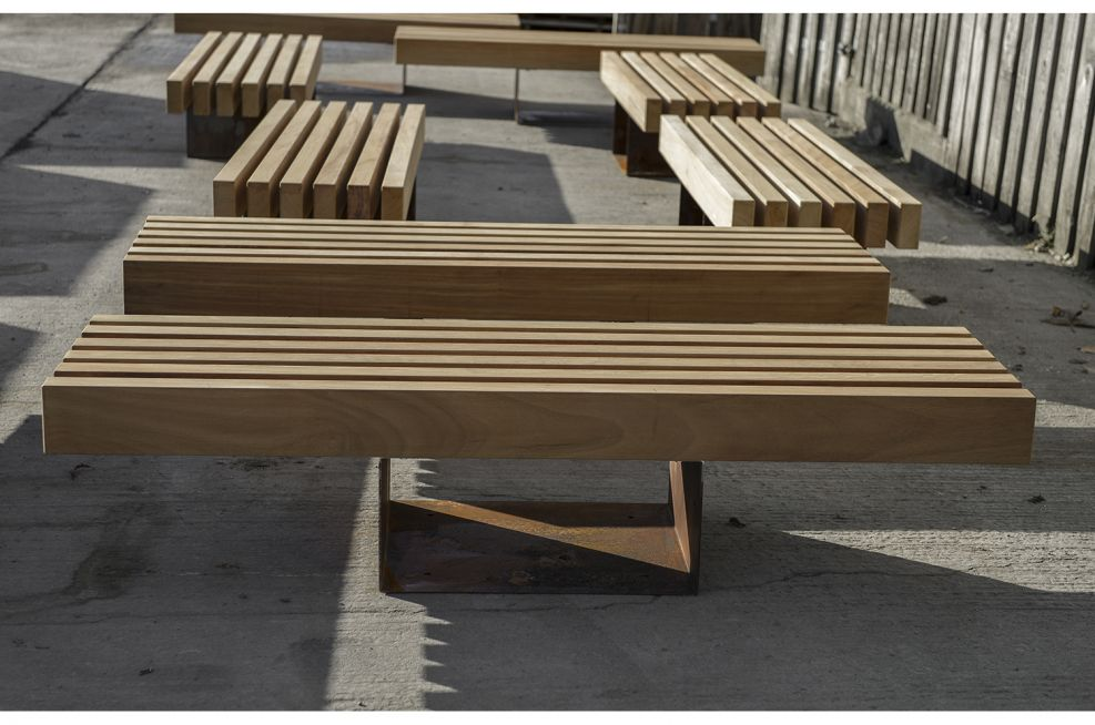 Corten Steel seating and benches